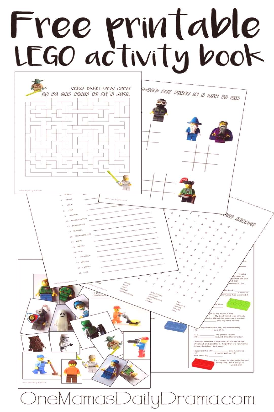 Printable LEGO Activity Book | LEGO Star Wars, Pirates, and More -