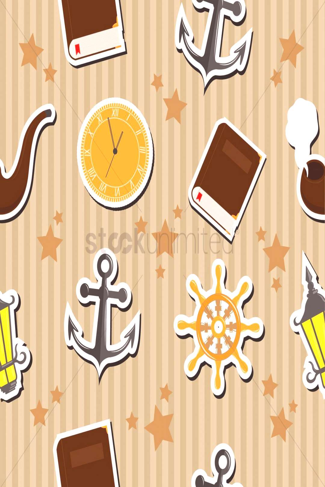 Seamless pirates background vectors, stock clipart ,