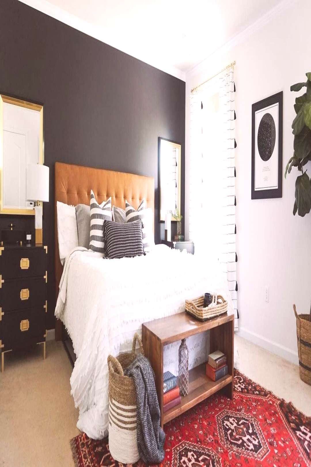 Still so in love with our master bedroom makeover! I'm debating if I want to put something over o