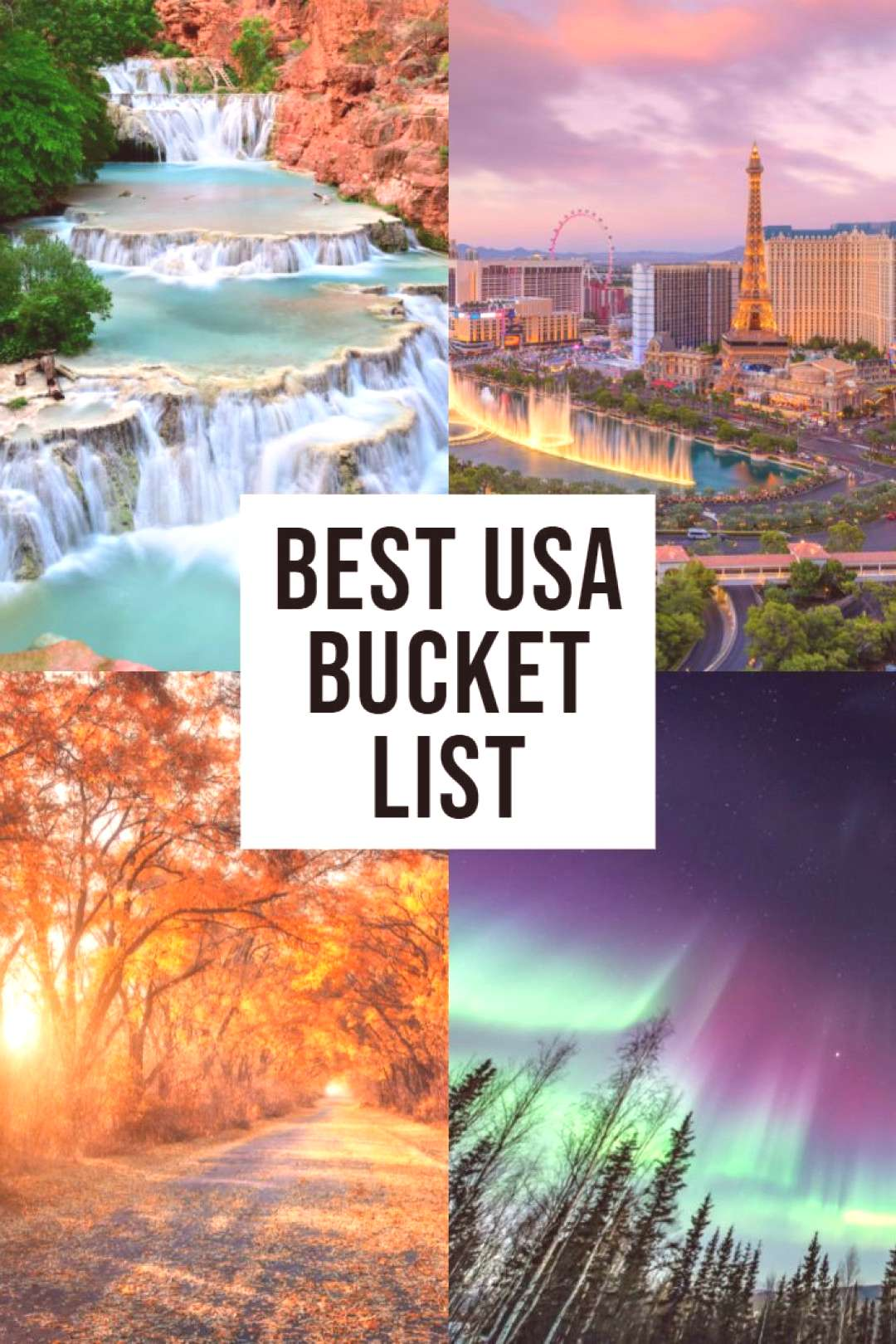 The BEST USA Bucket List! All the BEST places to visit in the USA that should be on your bucket lis