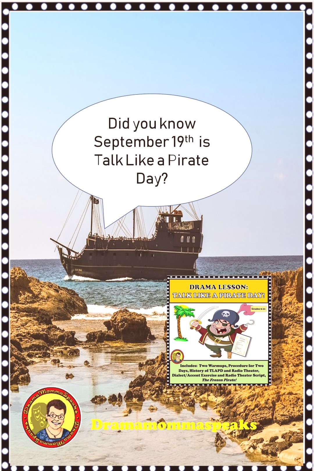 The Frozen Pirate Radio Play Argh......Talk like a Pirate Day lesson? But of course! I teach thea