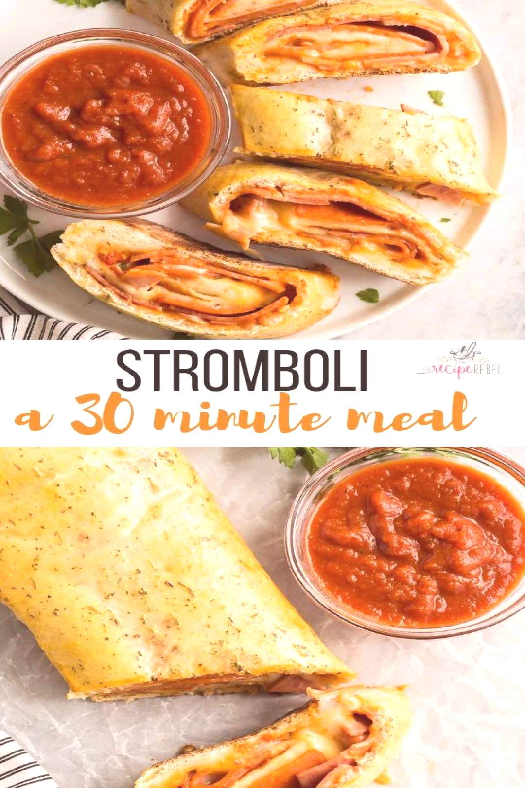 This easy Stromboli recipe is a 30 minute meal that the family will go crazy for! Just a few simple