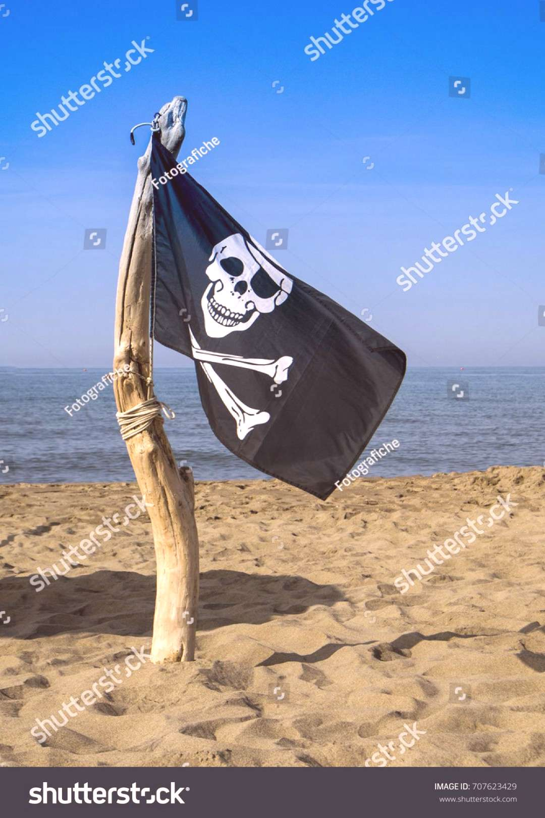 To Hoist the flag of the pirates warning of danger of aggression ,