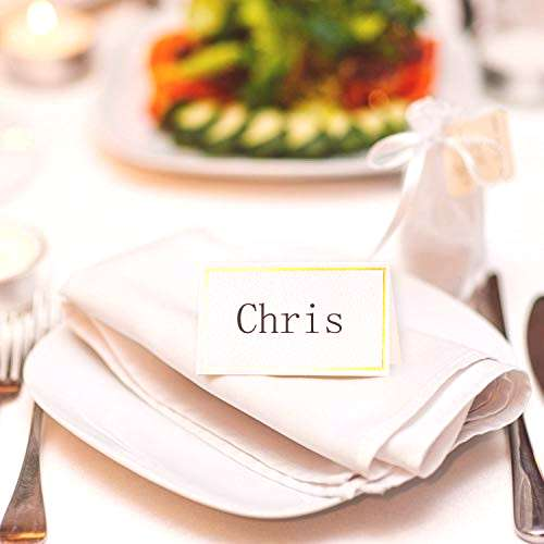 Toncoo 100Pcs Premium Place Cards, Small Table Cards with