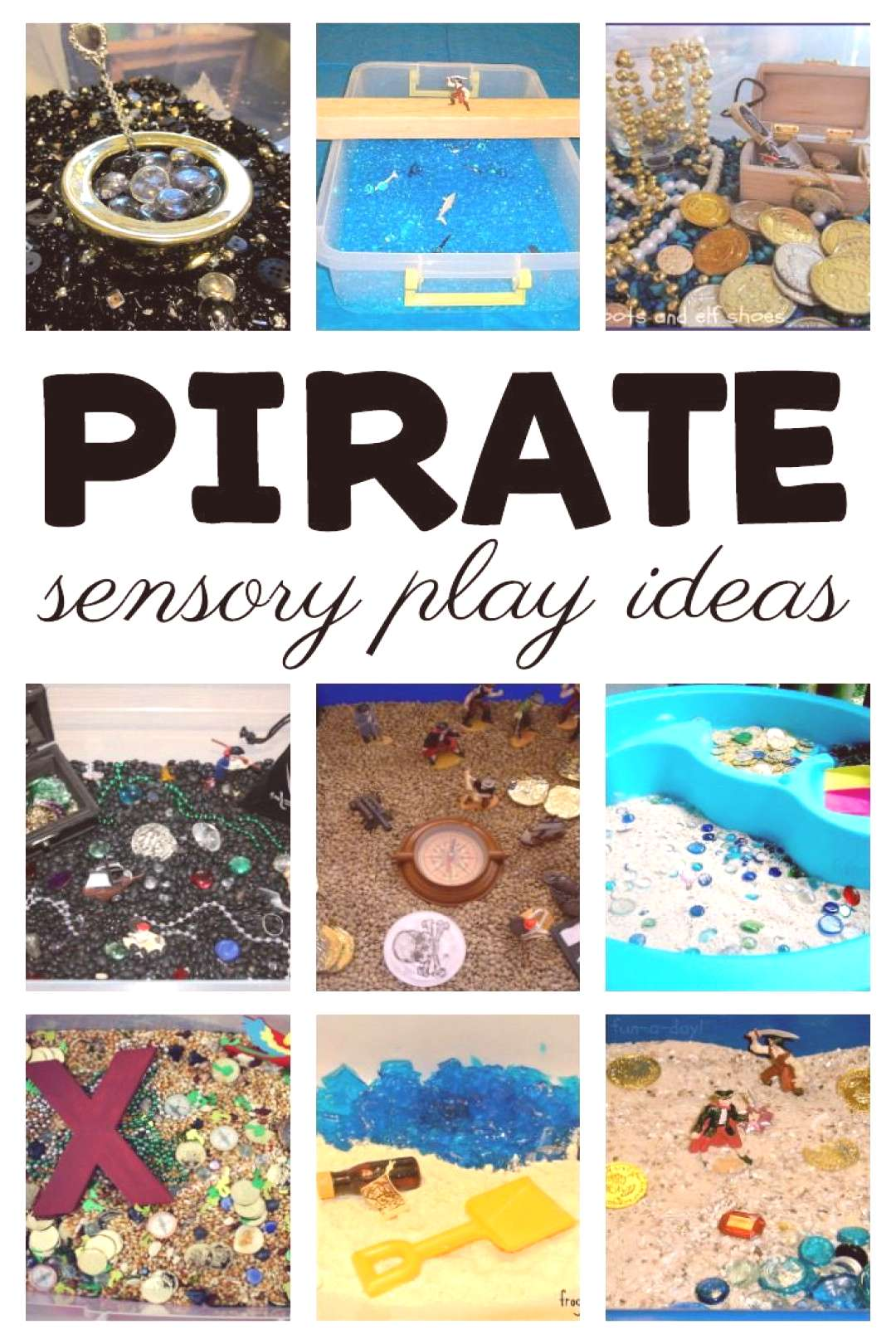 Tricks for Teaching Kids to Read Sensory Pirate Activities for Kids