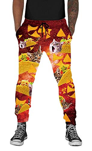 UNIFACO 3D Print Track Pants for Mens Womens Novelty Casual