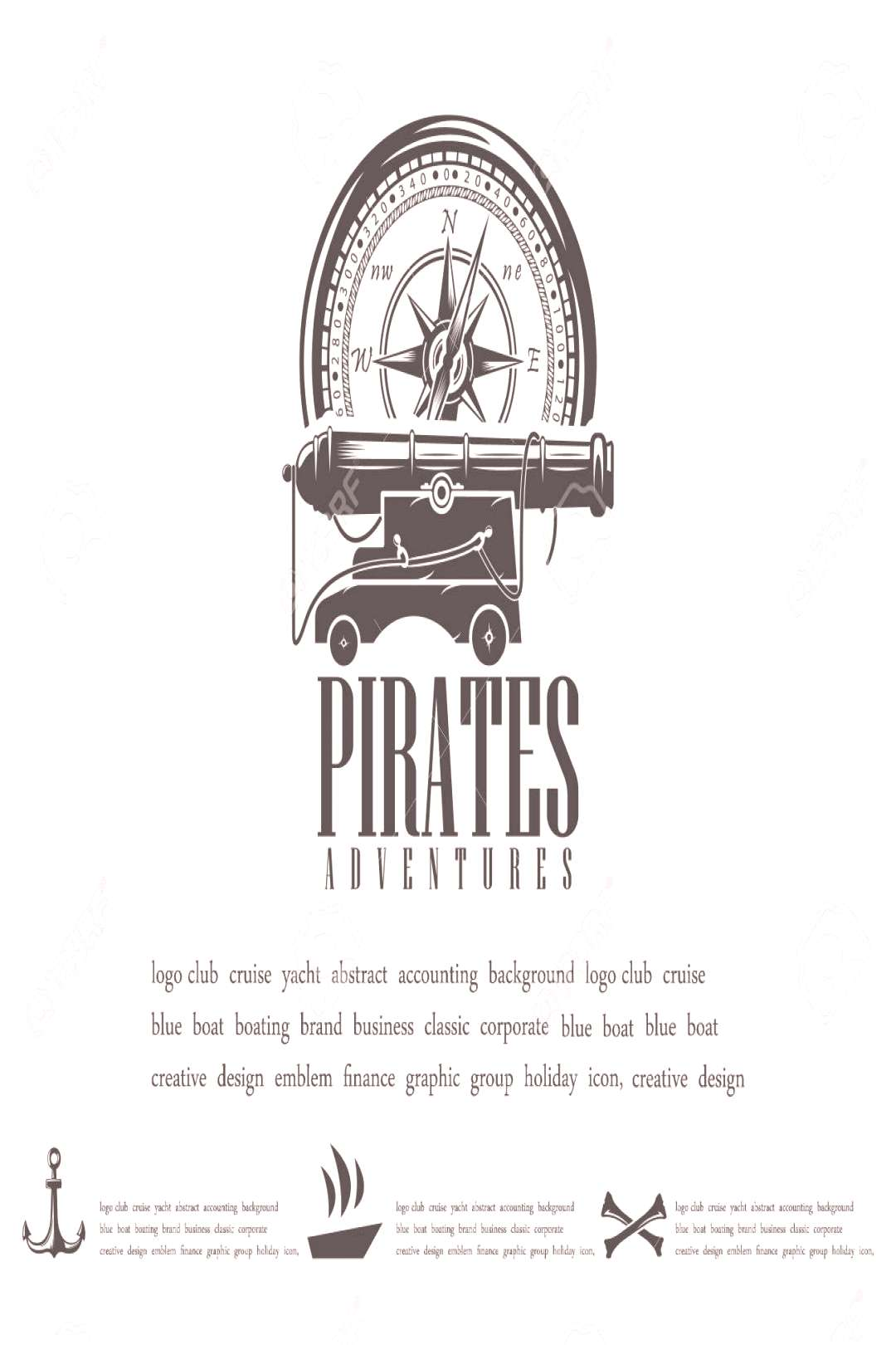 Vector illustrations, marine themes, icons and logos . Pirates vector ,
