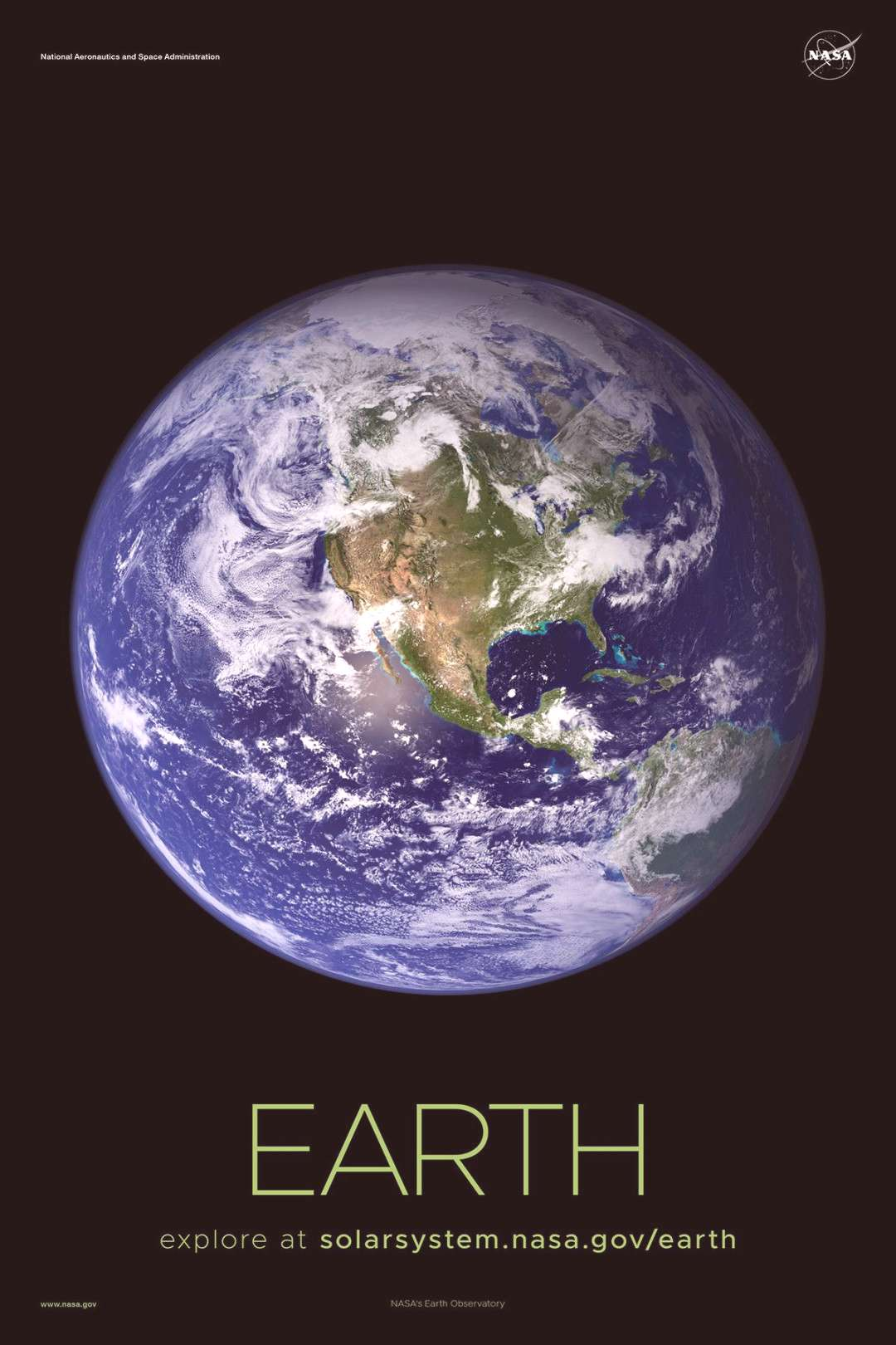 Version A of the Earthinstallment of our solar system poster series.