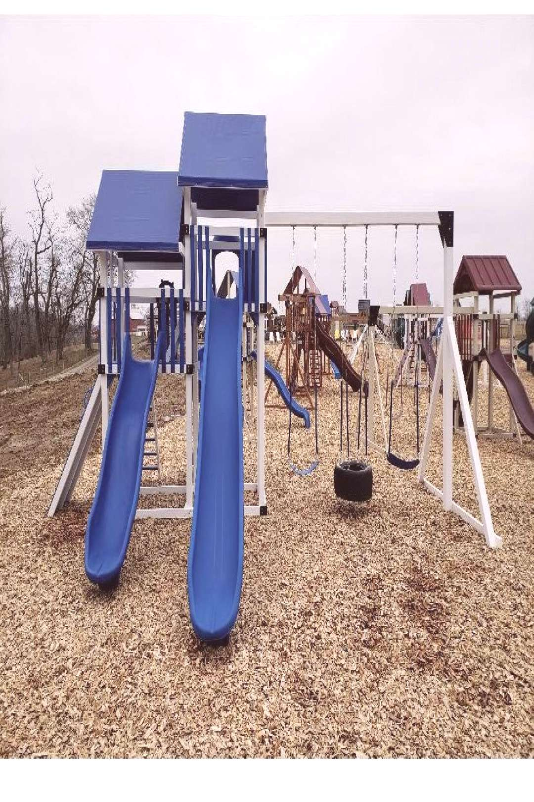 Vinyl Playset Vinyl and wood Playsets available in Northern WV and Southwest PA.